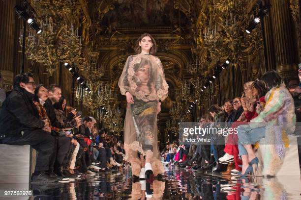 Ratner walks the runway during the Stella McCartney show as part of the Paris Fashion Week Womenswear Fall/Winter 2018/2019 on March 5, 2018 in...