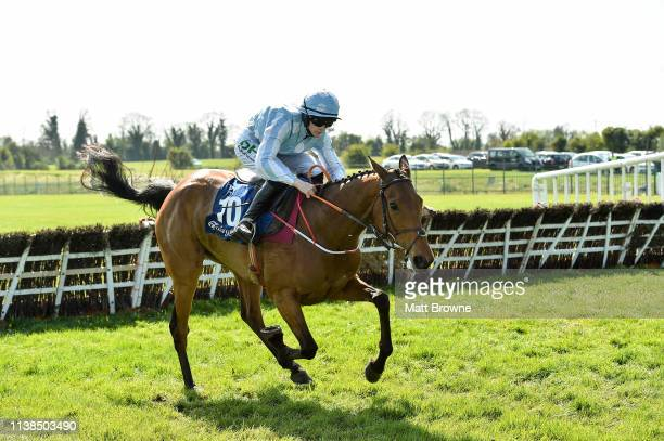 Ratoath Ireland 21 April 2019 Honeysuckle with Rachael Blackmore up on their way to winning the Irish Stallion Farms EBF Mares Novice Hurdle...