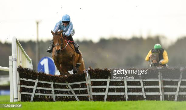 Ratoath Ireland 26 January 2019 Honeysuckle with Rachael Blackmore up on their way to winning the novice hurdle at Fairyhouse Racecourse in Ratoath...