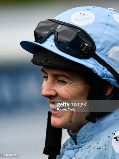 Ratoath Ireland 26 January 2019 Jockey Rachael Blackmore after winning the novice hurdle on Honeysuckle at Fairyhouse Racecourse in Ratoath Co Meath