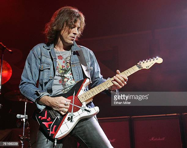 Ratt guitarist Warren DeMartini performs during a soldout show at the Pearl concert theater at the Palms Casino Resort August 17 2007 in Las Vegas...