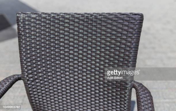 rattan chair (detail) - wicker stock pictures, royalty-free photos & images