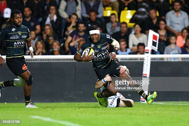 Ratu Ratini of La Rochelle during the french Top 14 match between Stade Rochelais and Racing 92 on May 27, 2016 in La Rochelle, France.