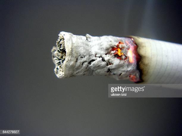 Rauchen Zigarette Zigarettenglut Zigarettenasche