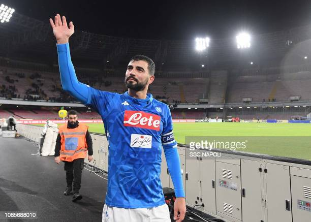 Raul Albiol during the Serie A match between SSC Napoli and SS Lazio at Stadio San Paolo on January 20 2019 in Naples Italy