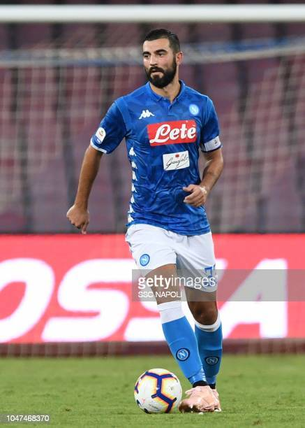 Raul Albiol during the Serie A match between SSC Napoli and US Sassuolo at Stadio San Paolo on October 7 2018 in Naples Italy
