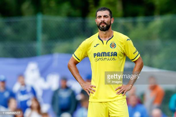 Raul Albiol of FC Villarreal looks on during the pre-season friendly match between Schalke 04 and FC Villarreal at Saalfelden Arena on August 2, 2019...