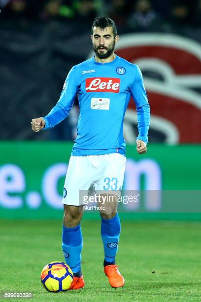 Raul Albiol of Napoli during the Italian Serie A football match FC Crotone and SSC Napoli on December 29 2017 at the Ezio Scida Stadium in Crotone