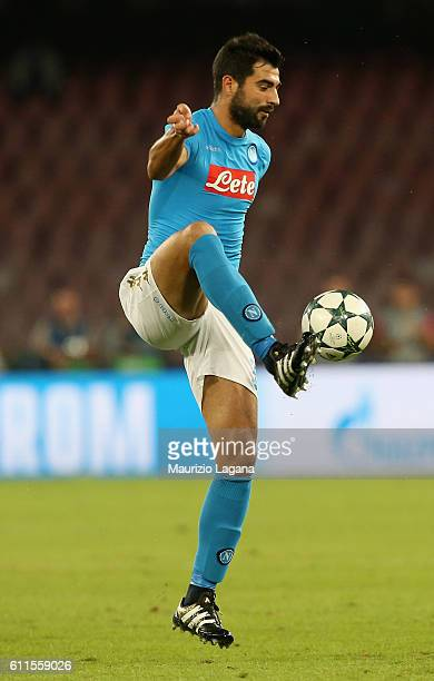 Raul Albiol of Napoli during the UEFA Champions League match between SSC Napoli and Benfica at Stadio San Paolo on September 28 2016 in Naples