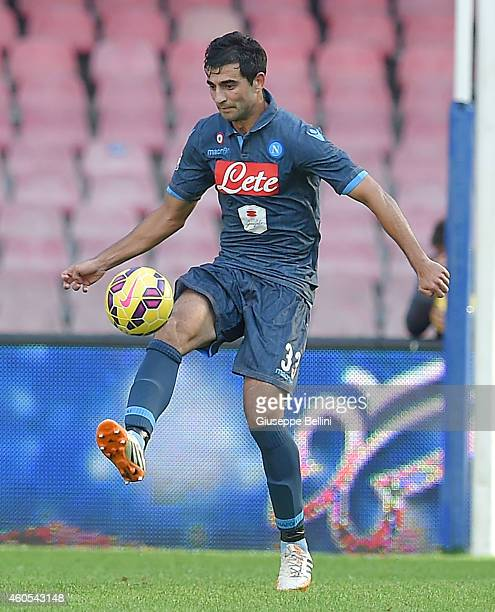 Raul Albiol of Napoli in action during the Serie A match between SSC Napoli and Empoli FC at Stadio San Paolo on December 7 2014 in Naples Italy