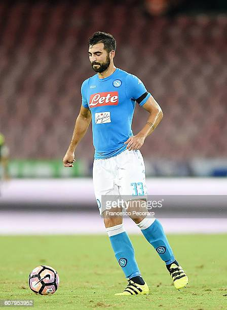 Raul Albiol of Napoli in action during the Serie A match between SSC Napoli and Bologna FC at Stadio San Paolo on September 17 2016 in Naples Italy