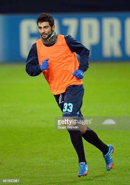 Raul Albiol of Napoli in action during the training session and press conference of SSC Napoli on November 25 2013 in Dortmund Germany