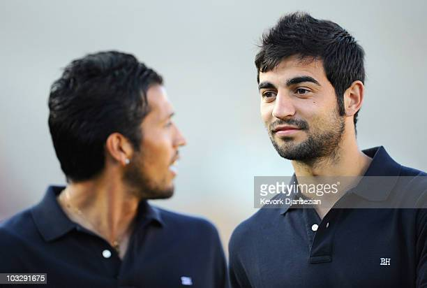 Raul Albiol of Real Madrid arrives for the preseason friendly soccer match against Los Angeles Galaxy on August 7 2010 at the Rose Bowl in Pasadena...