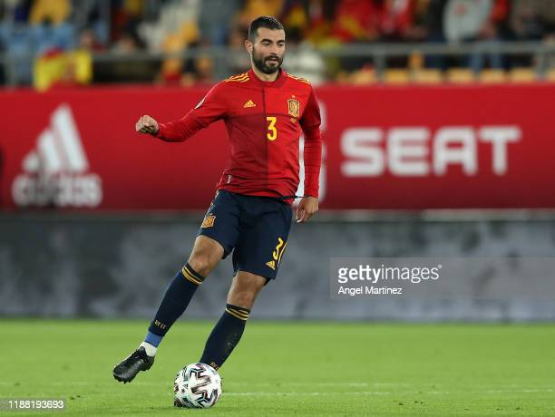 Raul Albiol of Spain in action during the UEFA Euro 2020 Qualifier between Spain and Malta on November 15, 2019 in Cadiz, Spain.