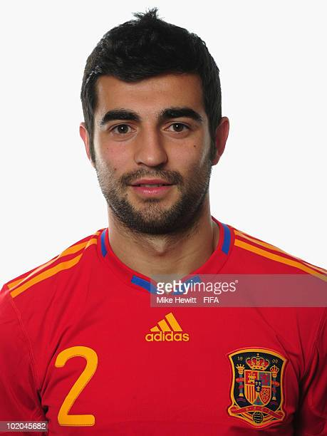 Raul Albiol of Spain poses during the official Fifa World Cup 2010 portrait session on June 13, 2010 in Potchefstroom, South Africa.