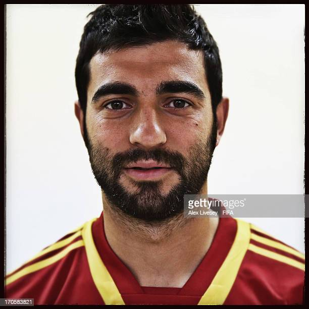 Raul Albiol of Spain poses for a portrait at the Golden Tulip Recife Palace Hotel on June 13 2013 in Recife Brazil