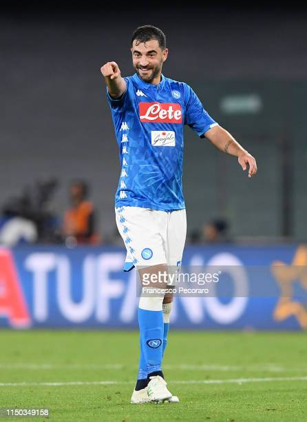 Raul Albiol of SSC Napoli during the Serie A match between SSC Napoli and FC Internazionale at Stadio San Paolo on May 19, 2019 in Naples, Italy.