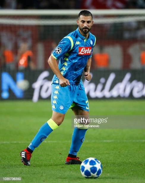 Raul Albiol of SSC Napoli in action during the Group C match of the UEFA Champions League between Crvena Zvezda Belgrade and SSC Napoli at Rajko...