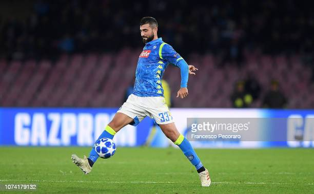 Raul Albiol of SSC Napoli in action during the Group C match of the UEFA Champions League between SSC Napoli and Red Star Belgrade at Stadio San...