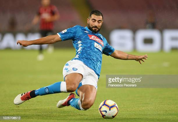 Raul Albiol of SSC Napoli in action during the serie A match between SSC Napoli and AC Milan at Stadio San Paolo on August 25, 2018 in Naples, Italy.