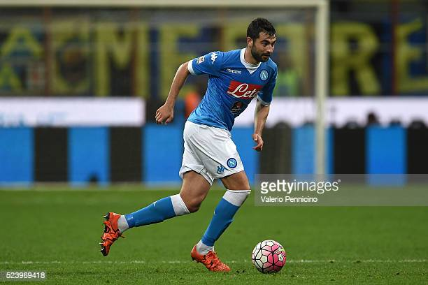 Raul Albiol of SSC Napoli in action during the Serie A match between FC Internazionale Milano and SSC Napoli at Stadio Giuseppe Meazza on April 16...
