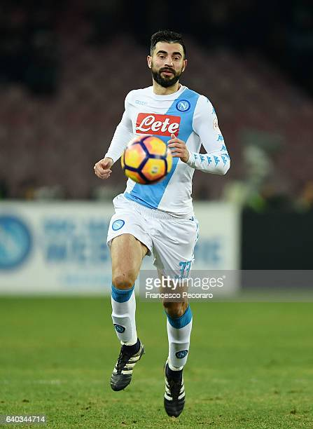 Raul Albiol of SSC Napoli in action during the Serie A match between SSC Napoli and US Citta di Palermo at Stadio San Paolo on January 29 2017 in...