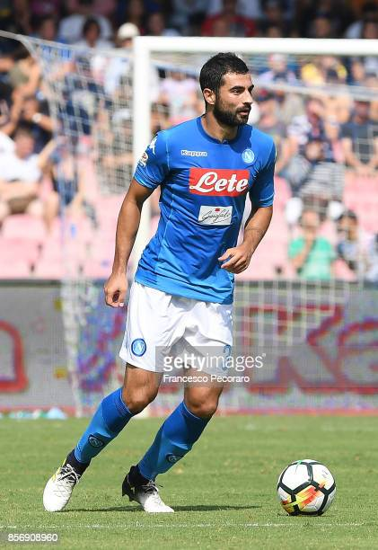 Raul Albiol of SSC Napoli in action during the Serie A match between SSC Napoli and Cagliari Calcio at Stadio San Paolo on October 1 2017 in Naples...