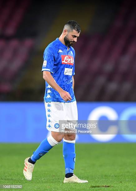 Raul Albiol of SSC Napoli show his disappointment after the Serie A match between SSC Napoli and Chievo Verona at Stadio San Paolo on November 25...