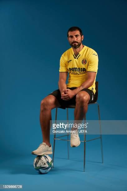 Raul Albiol of Villarreal poses for a portrait during the UEFA Super Cup media day on July 19, 2021 in Villarreal, Spain.