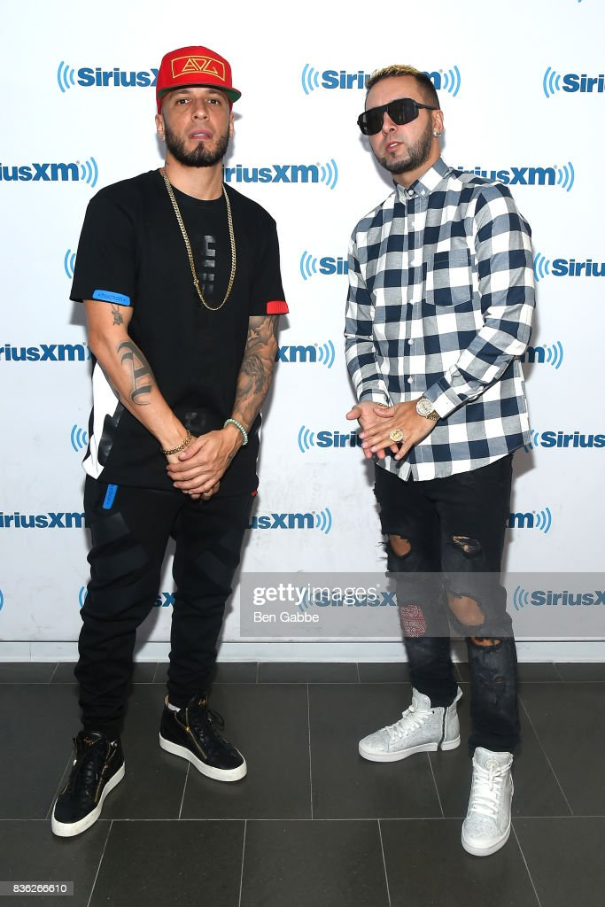Raul 'Alexis' Ortiz (L) and 'Fido' Joel F. Martinez of Alexis Y Fido visit SiriusXM Studios on August 21, 2017 in New York City.