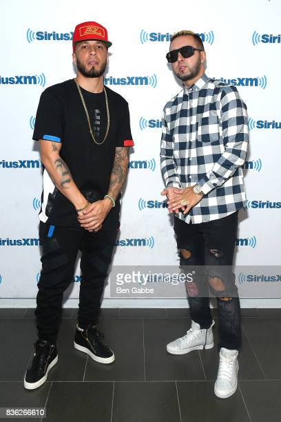 Raul 'Alexis' Ortiz and 'Fido' Joel F Martinez of Alexis Y Fido visit SiriusXM Studios on August 21 2017 in New York City