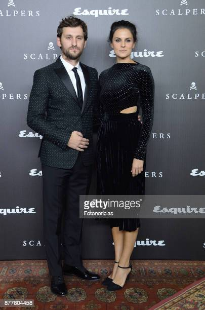 Raul Arevalo and Melina Matthews attend Esquire and Scalpers 10th anniversary party at the Palacio de Santa Coloma on November 22 2017 in Madrid Spain
