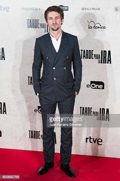 Raul Arevalo attends 'Tarde Para La Ira' premiere at Capitol Cinema on September 8 2016 in Madrid Spain