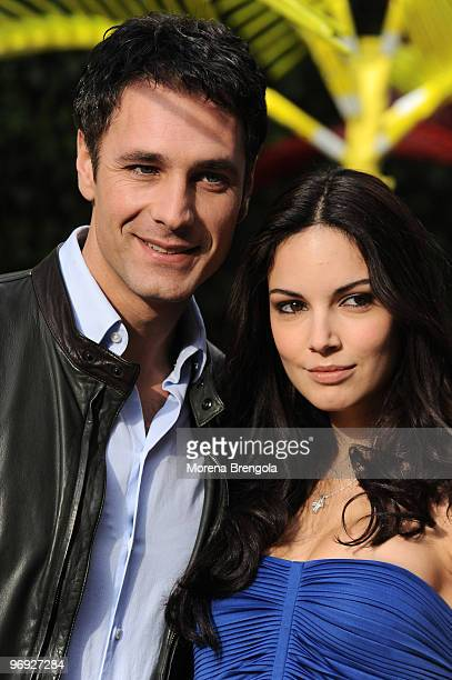 Raul Bova and Michela Quattrociocche attend the Italian TV show Quelli Che il Calcio on February 21 2010 in Milan Italy