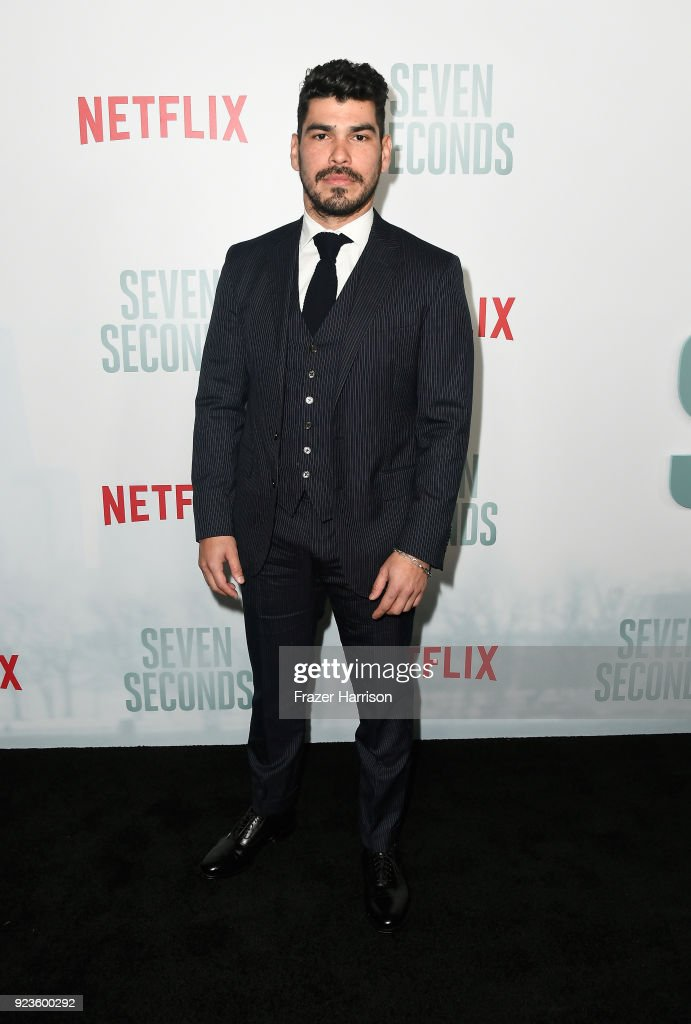 Raul Castillo attends the premiere of Netflix's 'Seven Seconds' at The Paley Center for Media on February 23, 2018 in Beverly Hills, California.