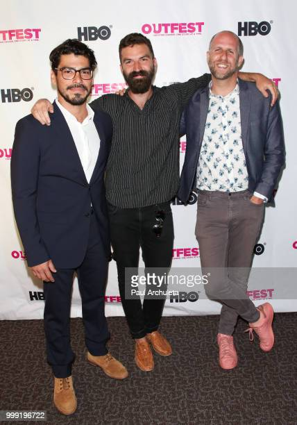 Raul Castillo Jeremiah Zagar and Daniel Kitrosser attend the 2018 Outfest Centerpiece Gala screening of the Orchard's 'We The Animals' at DGA Theater...