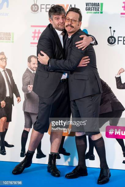 Raul Cimas and Joaquin Reyes attends to presentation of new comedian schedule of during FestVal in Vitoria Spain September 06 2018