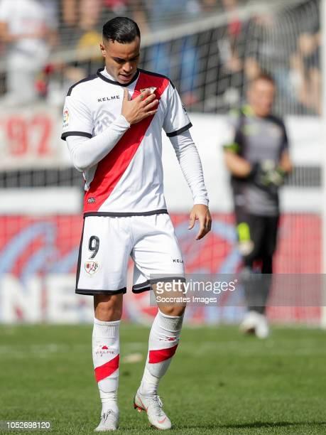 Raul de Tomas of Rayo Vallecano during the La Liga Santander match between Rayo Vallecano v Getafe on October 21 2018