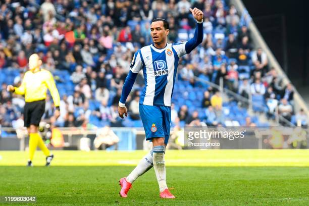 Raul de Tomas of RCD Espanyol during the Liga match between Espanyol and RCD Mallorca on February 9 2020 in Barcelona Spain