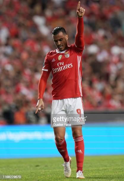 Raul de Tomas of SL Benfica in action during the Liga NOS match between SL Benfica and Gil Vicente FC at Estadio da Luz on September 14 2019 in...