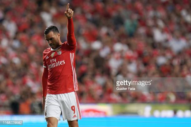 Raul de Tomas of SL Benfica in action during the Liga NOS match between SL Benfica and Gil Vicente FC at Estadio da Luz on September 14 2019 in...