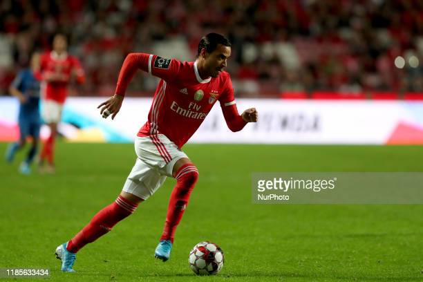 Raul de Tomas of SL Benfica in action during the Portuguese League football match between SL Benfica and CS Maritimo at the Luz stadium in Lisbon...