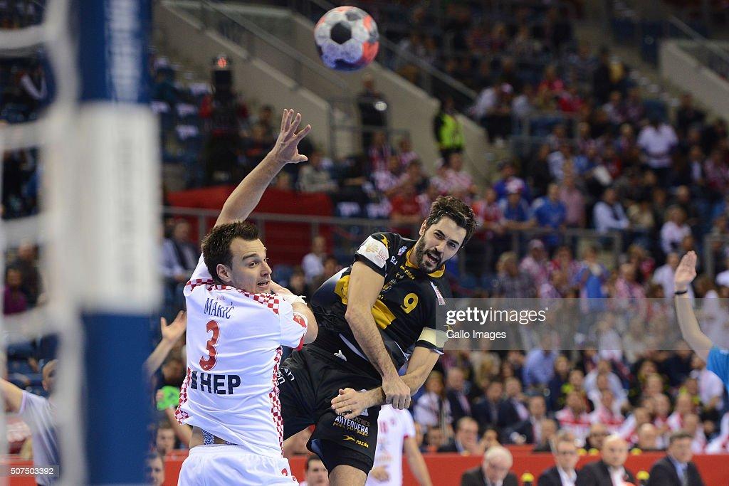 2016 EHF European Men's Handball Championship, Semi-final: Spain v Croatia
