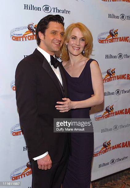 Raul Esparza and Erin Dilly during 'Chitty Chitty Bang Bang' Broadway Opening Night Curtain Call and After Party at The Hilton Theatre and Hilton New...