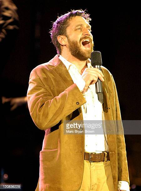 Raul Esparza during Broadway Under The Stars at Bryant Park New York in New York NY United States