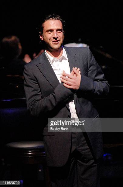Raul Esparza perfoms 'Being Alive' from the show Company for The Acting Company's 35th Anniversary Celebration 'The Ladies Who Sing Sondheim' at the...