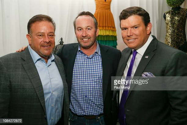 Raul Fernandez, Chris Donatelli, and Bret Baier celebrate the SemSem Pop-Up Launch at Cafe Milano on October 26, 2018 in Washington, DC.
