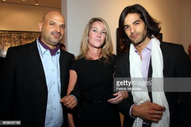 Raul Flores Sarah Hasted and Maximiliano Palacio attend EDWARD BURTYNSKY Artist Reception at HASTED HUNT KRAEUTLER on October 6 2009 in New York City