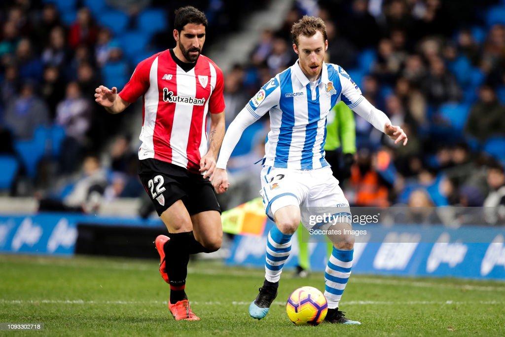 Raul Garcia of Athletic Bilbao, David Zurutuza of Real ...