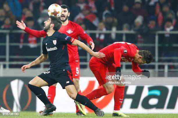 Raul Garcia of Athletic Bilbao in action during the UEFA Europa League round of 32 first leg soccer match between Spartak Moscow and Athletic Bilbao...